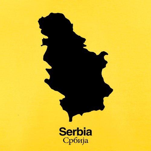 Serbia / Serbien Silhouette - Herren T-Shirt - 13 Farben Gelb