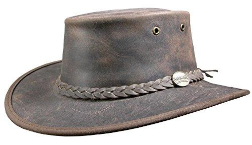 Barmah Brown Bronco Hat-Bovine Leather-t.s Bonnet Mixte, Marron, s