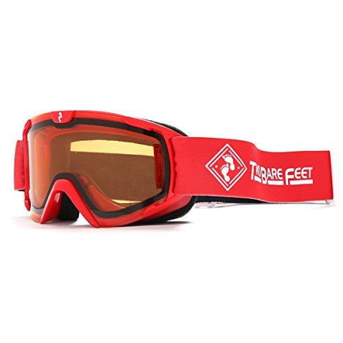 Two Bare Feet Nitro Junior Ski Snow Goggles Red / Orange Einheitsgröße