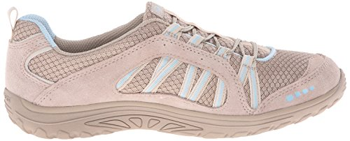 Skechers - Reggae Fest - Epic Advent, Scarpe da ginnastica Donna Natural Suede/Mesh Light Blue Trim