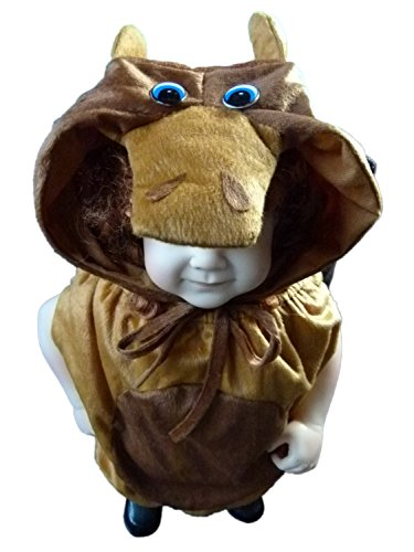 Stier-Kostüm, An66/00 Gr. 74-80, Stiere Bullen für Klein-Kinder, Stier-Kostüme Babies, Kinder-Kostüme Fasching Karneval, Kinder-Karnevalskostüme, Faschingskostüme, Geburtstags-Geschenk