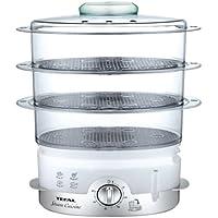 Tefal Ultra Compact - Cocedor al vapor (hasta 3 platos a la vez,temportizador de 60 min, ultra compacto), blanco