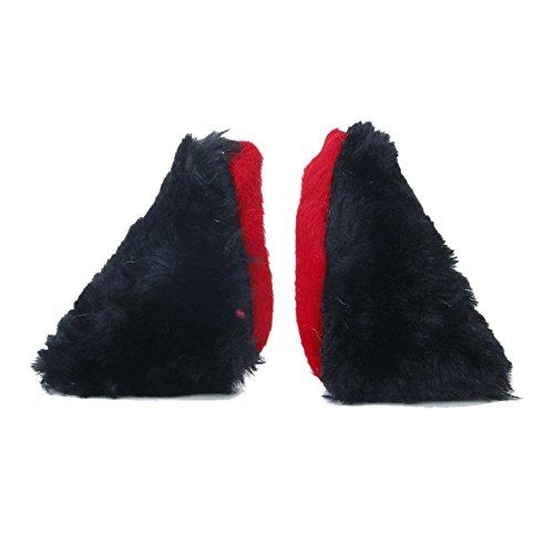 TOOGOO(R) 1 paire Epingles Barrettes a Oreilles des Elfes pour Halloween Noel Cosplay Deguisement - Noir