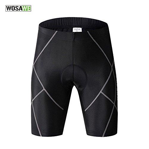 WOSAWE pour Homme Gel 3D rembourrée Short de Cyclisme Vélo Multifonction  Sports Demi Pantalon 27d0f96f1c62c