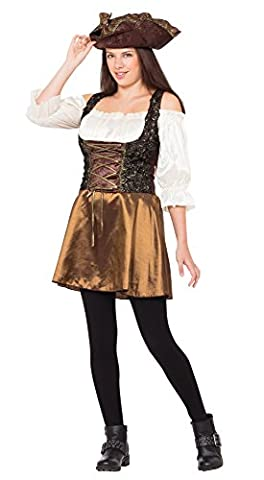 Pirate Adult Hat - Pirate Gold Rose costume Adult Fancy