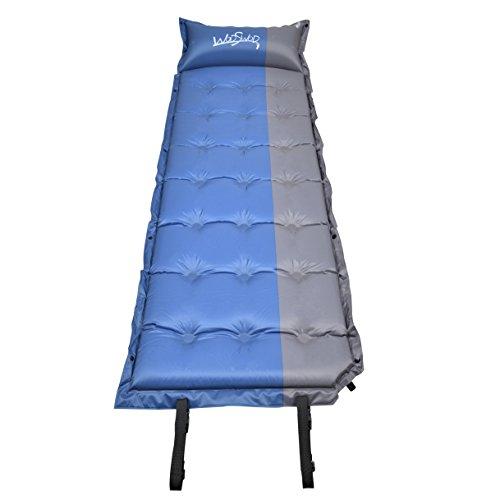WodsWod SelbstaufblasbareTragbare Isomatte, Selbstaufblasbare Luftmatratze für Outdoor Camping, Wandern, Reise, Trekking, Wasserdicht, Sleeping Pad