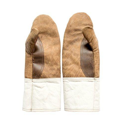 BBQ & Grill-Handschuhe, handgefertigt von Hide & Drink (Bourbon Braun)