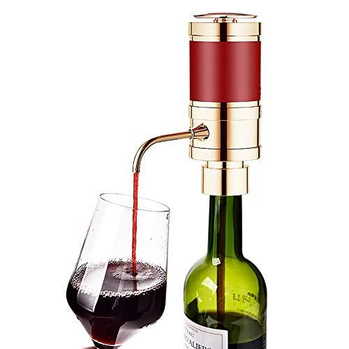 Aérateur de vin Décanteur, Kit Distributeur de Pompe aérateur de vin électrique, Machine à Robinet à reniflard portatif et à Bouteille, diffuseur Bec verseur en métal Unique