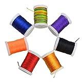 SHARROW 2pcs Tiro con L'Arco Corda dell'Arco String Serving Thread 110m (Nero)
