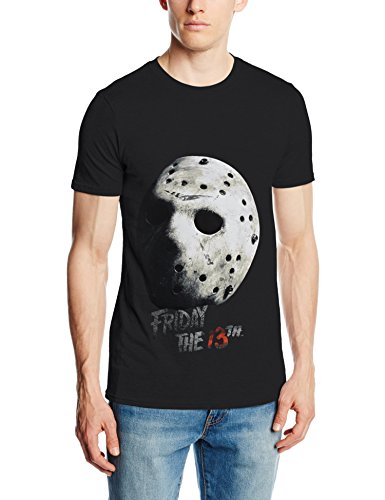 Friday 13th Friday the 13Th Jason Mask, Camiseta para Hombre, Negro (Black),...