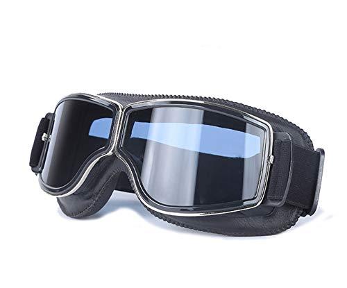 Daesar Motorrad Brille für Brillenträger Schutzbrille Infrarotlampe Schwarz Schwarz Brille Winddicht Radsport
