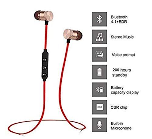 BT-JJBL Bluetooth Wireless Earphones 5.0 in-Ear Headphones with Microphone Stereo Sport Headsets for All Andriod & iOS Smartphones (Black) Image 2