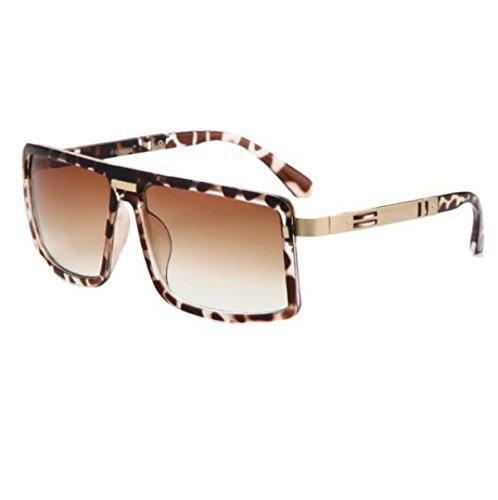 MYLL Europa Und Die Vereinigten Staaten Arbeiten Damen Sonnenbrillen Trend Der Männer Quadratische Gläser Wilde (Retro Leopard Sonnenbrille Rock)
