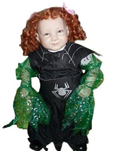 AN03 2-4 Jahre Hexenkostüm, Halloween Kostüm, Hexe Faschingskostüme, Hexe Karnevalskostüm, für Kinder, Jungen, Mädchen, für Fasching Karneval Fasnacht, auch als Geschenk zum Geburtstag oder Weihnachten