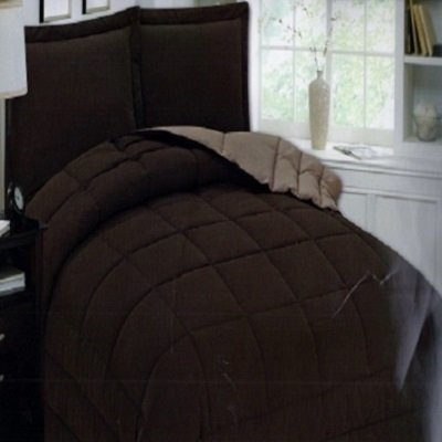 Liso Duplex Pelle comforter set (King Size, Taupe)