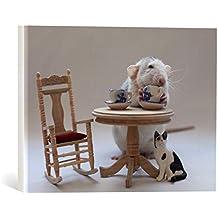 """Cuadro en lienzo: Ellen van Deelen """"Tea-time"""" - Impresión artística de alta calidad, lienzo en bastidor, 40x30 cm"""