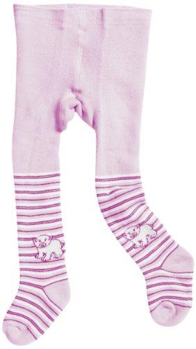 Playshoes Kinder Strumpfhose Thermo Eisbär, Pink/Rose, 86/92