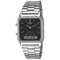 Casio Unisex-Adult Quartz Watch, Analog-Digital Display and Stainless Steel Strap AQ-230A-1D