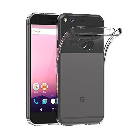 Google Pixel XL Hülle, AICEK Transparent Silikon Schutzhülle für Google