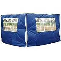 2 Paredes Laterales 2x3m (Alto x Largo) + Ventanas para Carpa 3x3 3x6 3x9 Azul