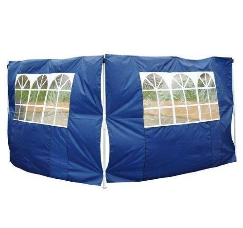 2 Paredes Laterales con Ventanas para Carpa Pabellón o Gazebo - Color Azul - Oxford - 3x2 m