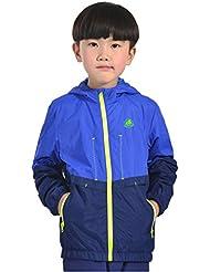emansmoer niñas Resistente al agua Protección solar Ultra-ligero chaqueta al aire libre Chaqueta deportiva respirable con malla transpirable