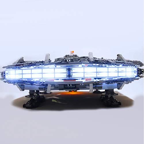 BANDRA Licht Kit - LED Licht-Set für Lego 75192 - Star Wars Millennium Falcon Bauspielzeug (Nicht enthalten Das Lego-Modell) (Wars Lego Millenium Star Falcon)