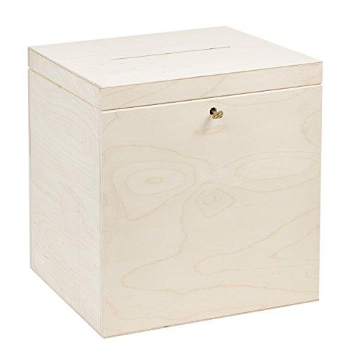 Holz Geschenkkasten 25 x 29 x 30 cm Kartenbox Hochzeitkiste Briefbox Geldbox
