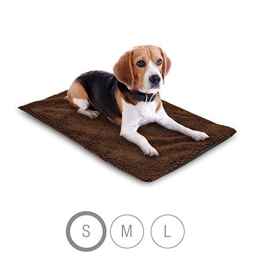 Bella & Balu Haustier Thermodecke inkl. Mikrofasertuch zum Reinigen der Pfoten - Selbstheizende und isolierende Thermomatte mit kuschelig-weichem Bezug für Hunde und Katzen (S | 65 x 46 cm)
