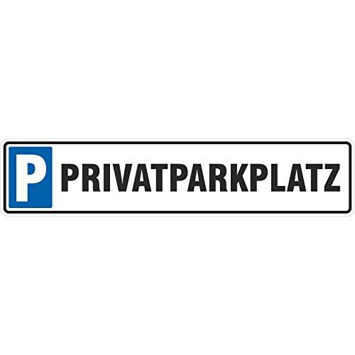 Schild Privatparkplatz 50 x 11 cm Autoschild Alu-Verbund stabil Parkplatz