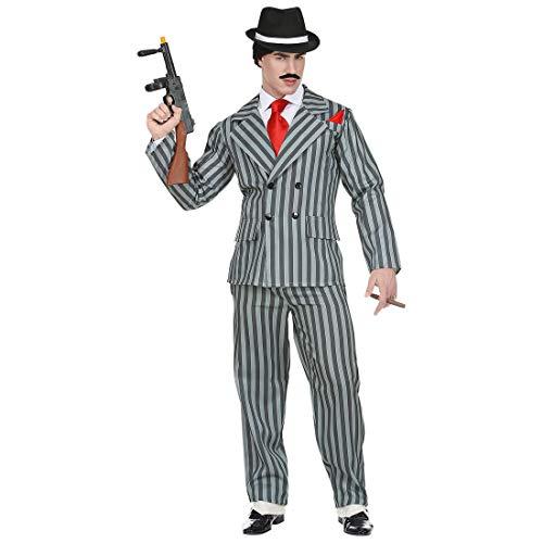 Widmann Srl Costume Gangster da Uomo Adulti, Multicolore, WDM65792