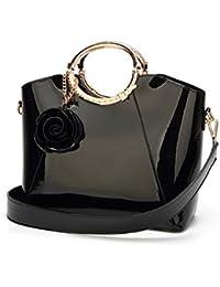 Tisdaini Donna borse a mano moda Pelle verniciata grande capacità tracolla  borsa messenger 9b0f1baf886