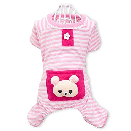 PETCUTE Cute Ropa para Perros Pijamas Ropa de Algodón Suave Ropa de Mascotas de Cuatro Patas Ropa para el Otoño Otoño Invierno Rosado