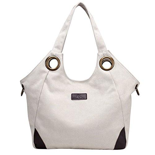70469d10f1c43 PB-SOAR Vintage Damen Canvas Große Schultertasche Umhängetasche Shopper Henkeltasche  Handtasche Hobo Bag Beuteltasche Freizeittasche