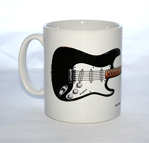 Mug guitare Blackie dessinée par George Morgan représentant la guitare Fender Stratocaster d'Eric Clapton