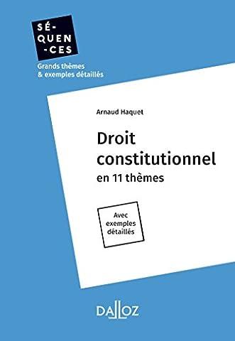 Droit constitutionnel - Nouveauté: En 11