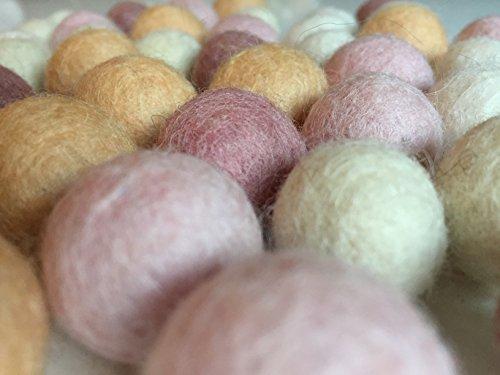 50Fieltro bolas en colores suaves