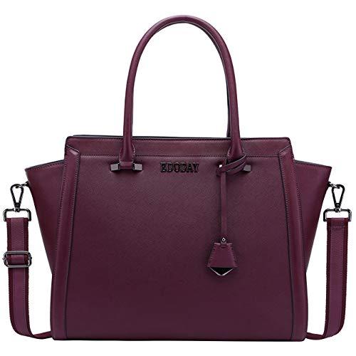 Laptop-Tasche, 39,6 cm (15,6 Zoll), Quakeproof Laptop-Tasche, stylische Computertasche, Schul-Reise, Schultertasche mit starkem, verstellbarem Schultergurt 15.6 IN burgunderfarben