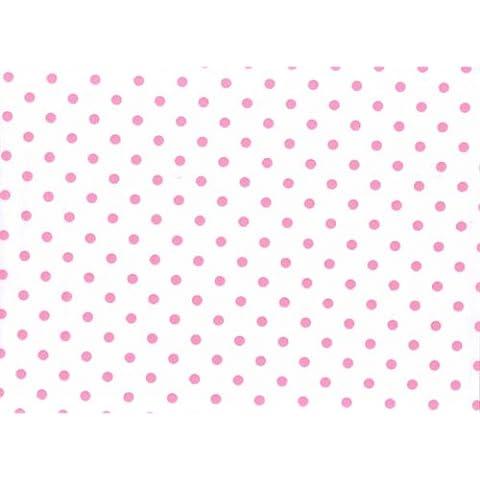 5m x 80cm Rollo Rosa Lunares Estampado on Celofán Transparente envoltura. Celofán Para Ramos, Calidad De Floristería / Regalo / Cesto / Envoltorio Para Cesta