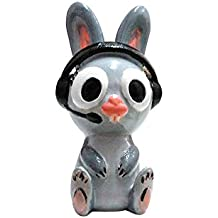 Fancy Interio Bugs Bunny With Head Phone Showpiece - (8.5 cm Polyester, Multicolor, Pack of 1)