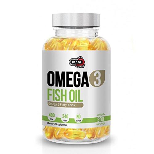 Molekular Destilliert, Fischöl (Pure Nutrition OMEGA 3 Kapseln Fischöl Hochdosiert 480 EPA 240 DHA 1200mg Ohne Zusätze|Essentielle Fettsäuren Molekular Destilliert für Höchste Reinheit und Frische|Fish Oil)