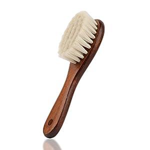 Baby-Haarbürste mit Holzgriff und superweichen Borsten Natur-Pur