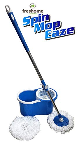 Freshome Magic Spin Mop with 1 extra Microfiber Refill