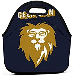 Premium Lunch Box, Insulated Lunch Bag for Men Women Adult geek lion apparel vintage fashion head glasses