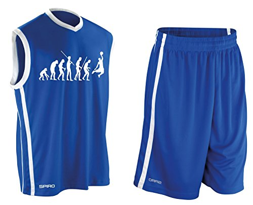 BASKETBALL - Evolution ! TRIKOT TANK mit Hose Shirt Blau Gr.S