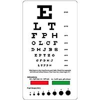 Snellen Eye Chart de poche avec Rouge Vert lignes