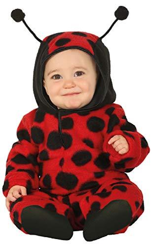 Fancy Me Baby Jungen Mädchen süß rot schwarz gepunktet Marienkäfer Käfer Mini Beast Karneval Kostüm Outfit 6-24 Monate (Baby Mini-me Kostüm)