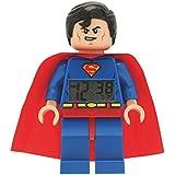 ClicTime - 9005701 - Lego DC Super Heroes Superman Minifiguren Wecker - mehrfarbige