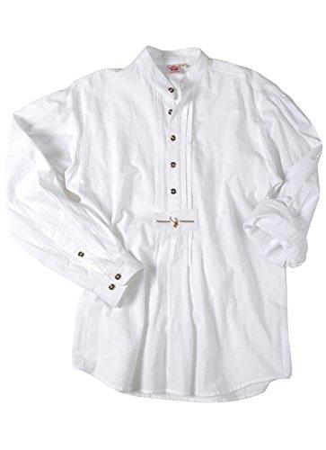 Spieth & Wensky - Slim Line - Herren Trachten Hemd mit Stehkragen in weiss (009648-0020), Größe:45/46(XXL);Farbe:Weiß (2014 )