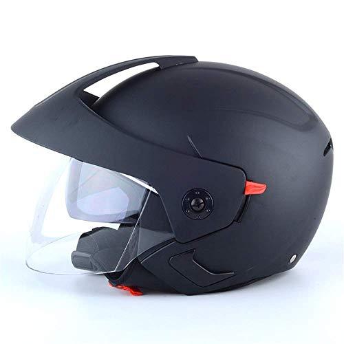 Motorradhelm Elektrohelm Helm Fahrradhelm Halbhelm Unisex Winterhelm (Color : Black)